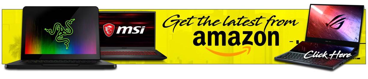 Latest Laptops available Amazon Banner.j