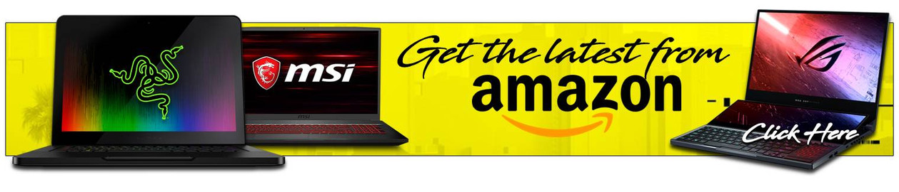 Latest Laptops available Amazon Banner.j