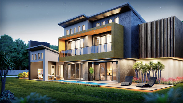 House Stander, Centurion, South Africa. Architectural Design and 3D rendering by Arcvisa S