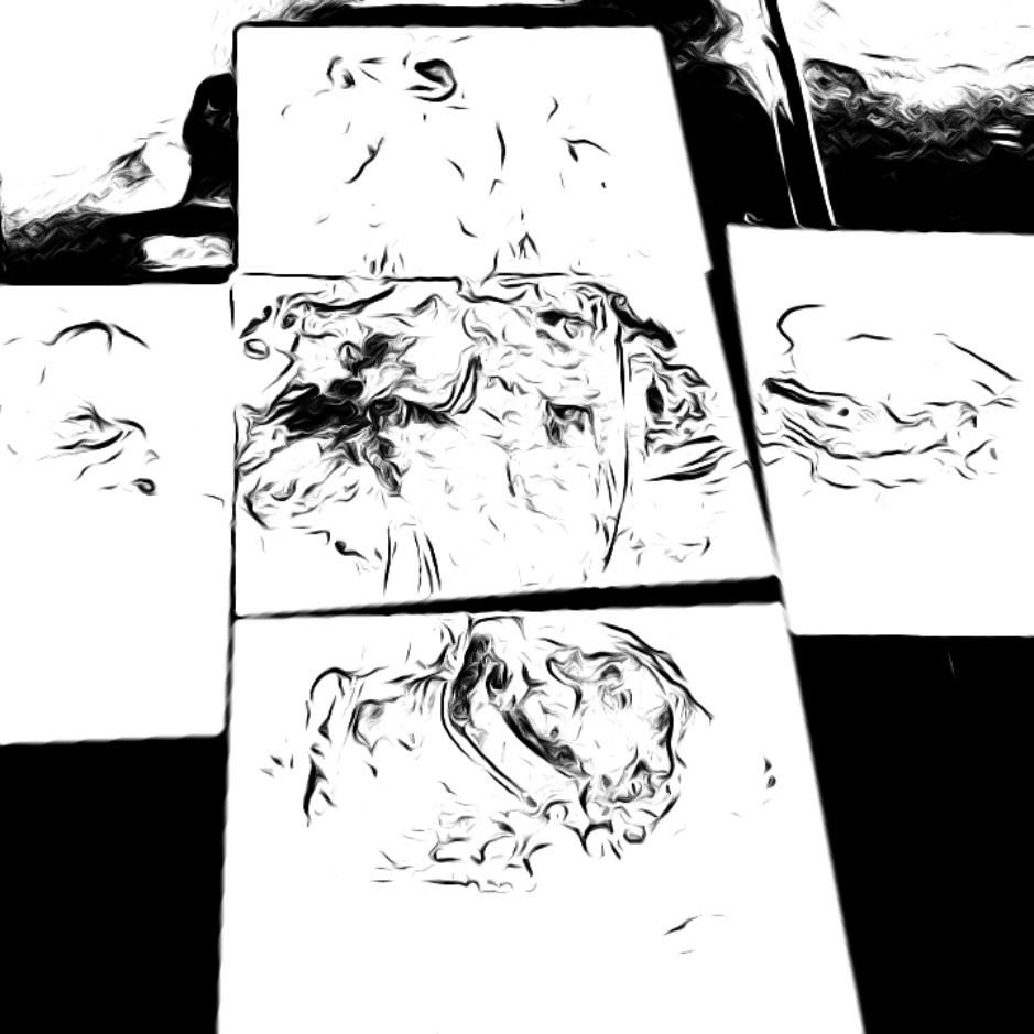 Foot print , huella
