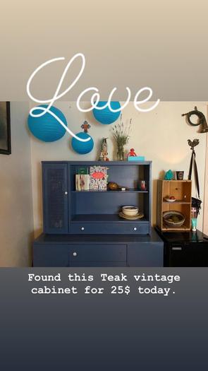 teak blue dresser