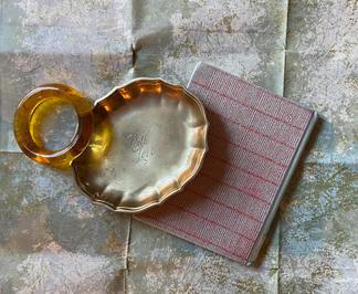 brass love tray