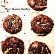 chewy choc ginger cookies