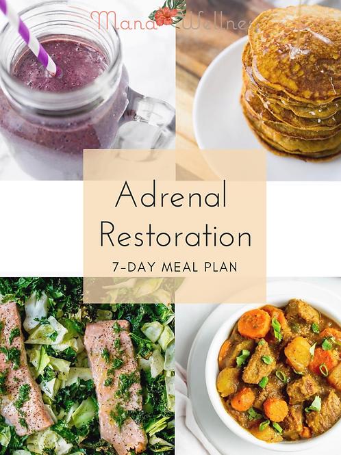 7 Day Adrenal Restoration Meal Plan