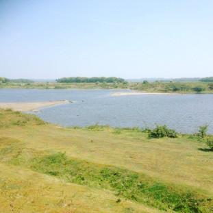 Lake at Snettisham Beach