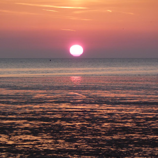 Sunset at Snettisham Beach