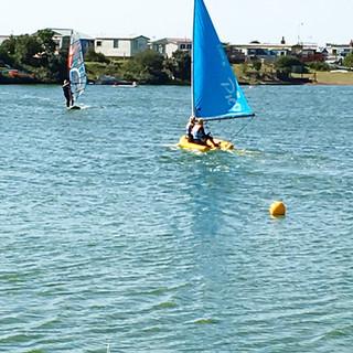 Sailing at Snettisham Beach