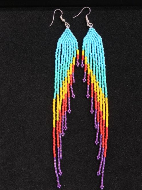Extra long Angel Wing Fringe earrings