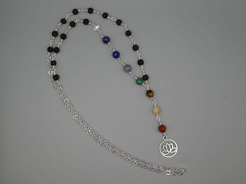 Chakra with Lava & Herkimer Diamond