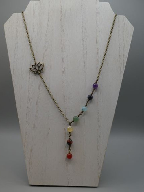 Chakra beads with Lotus accent