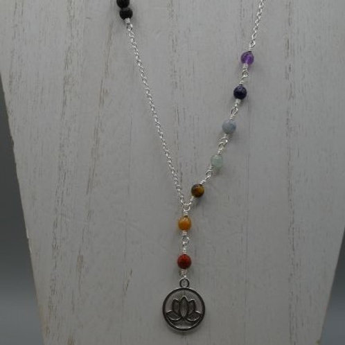 Chakra with Lotus and Black Lava