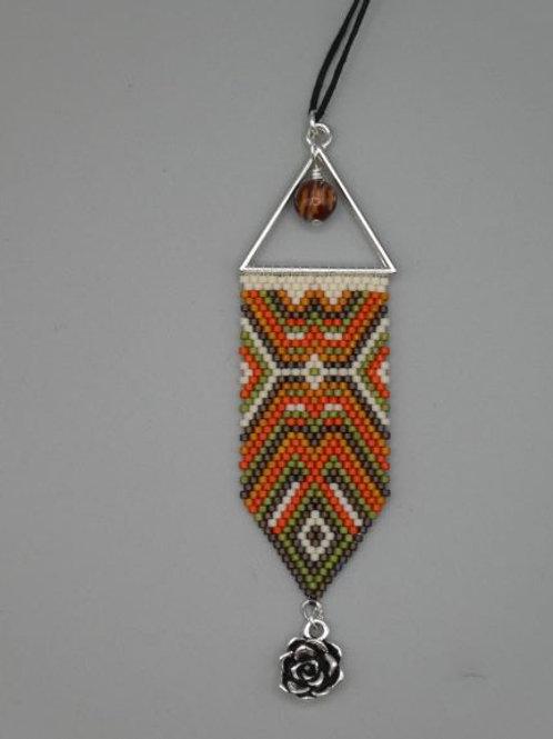 Desert Vibe bead woven pendant