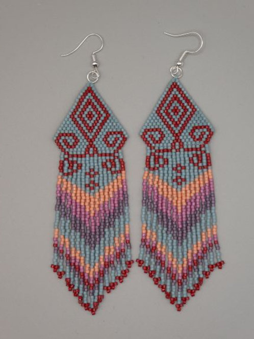 Tapestry Fringe Earrings