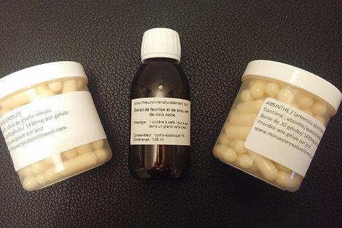 Cure kit antiparasitaire complet dr Clark et Moritz de Ets. KESER
