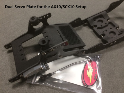 SCX V2 Chassis with dual servo plate.