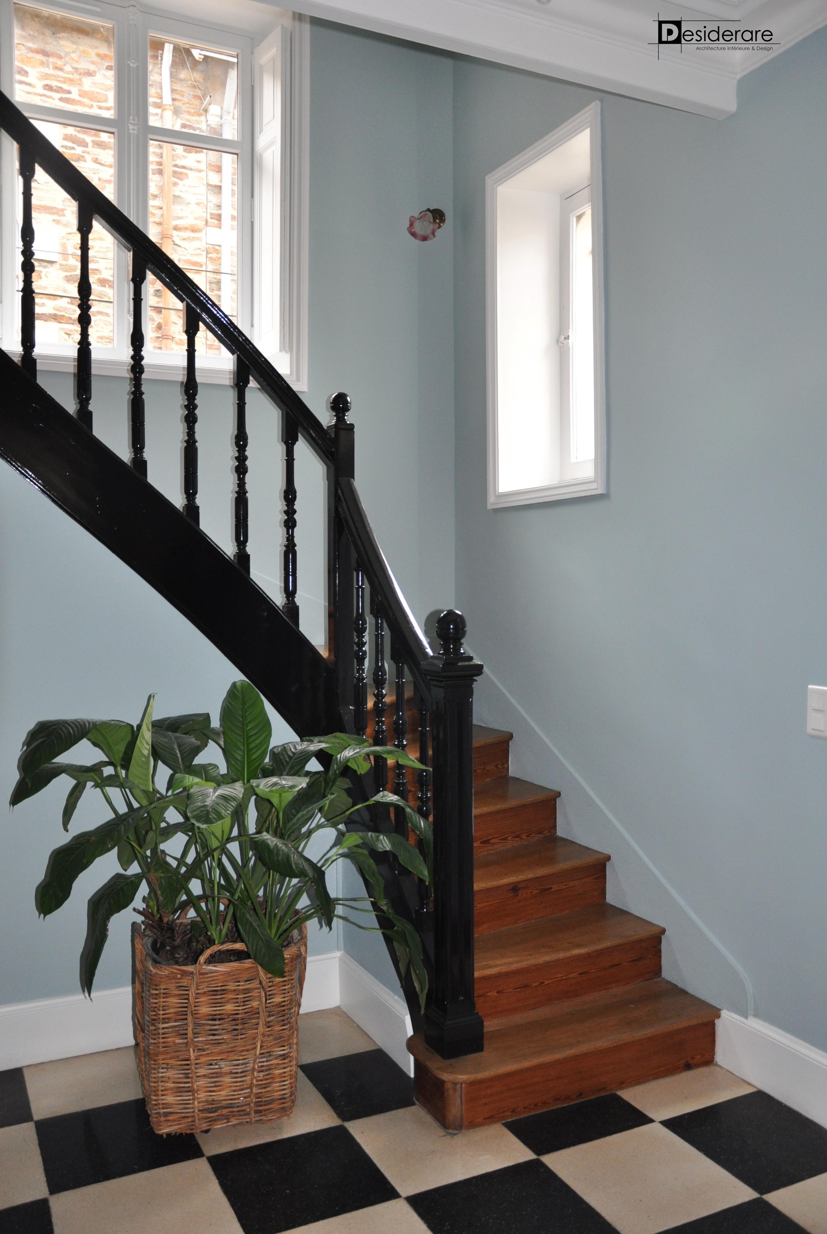 Rénovation de l'ancien escalier