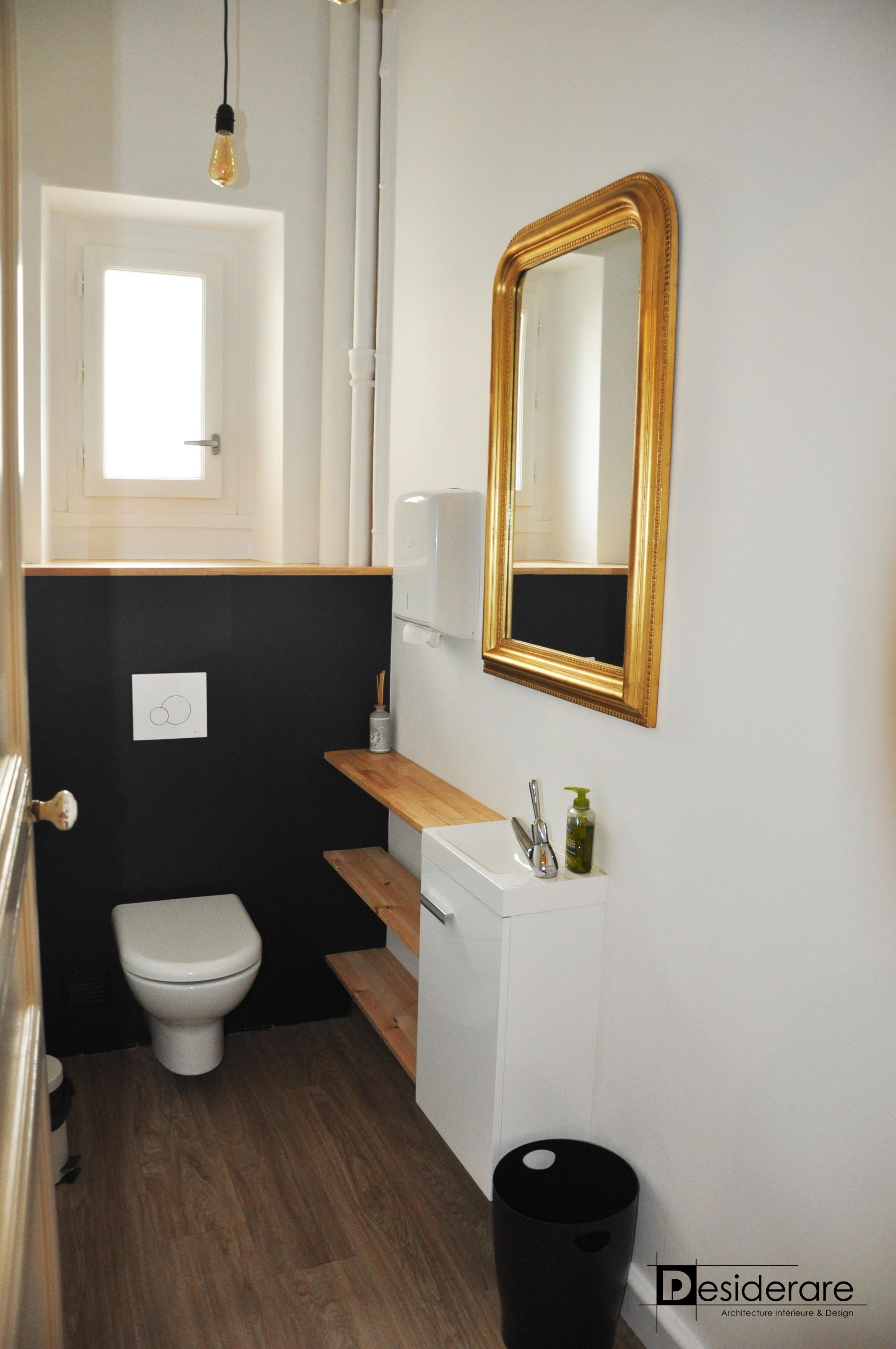 Rénovation dru WC dans le même style