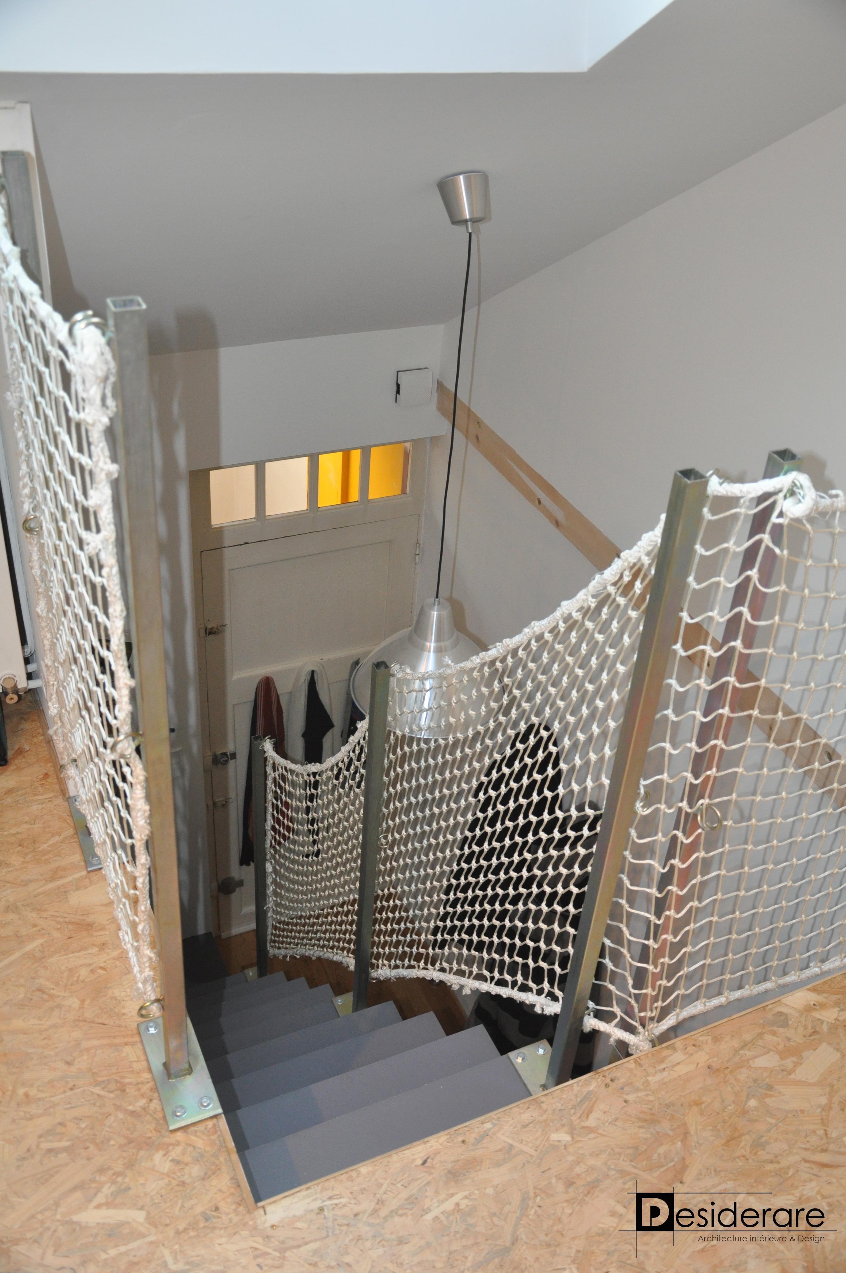 Duplex à Nantes / escalier