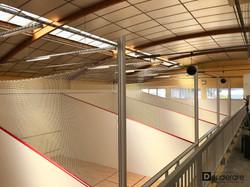 Vue panoramique sur les squash