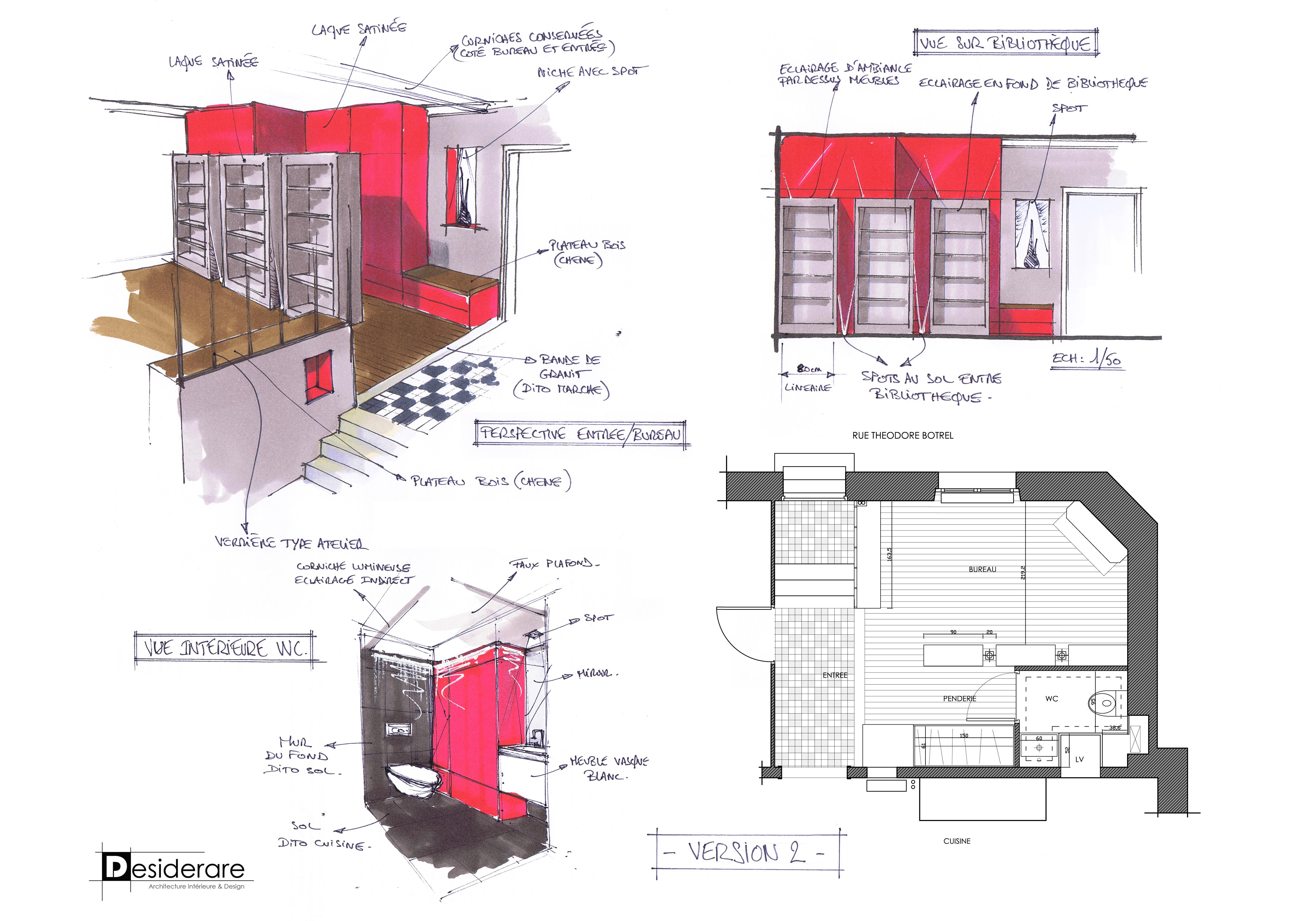 Rénovation à Nantes / esquisse