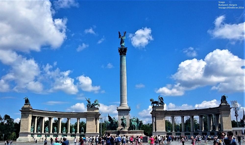 La Place des Héros à Budapest, Hongrie
