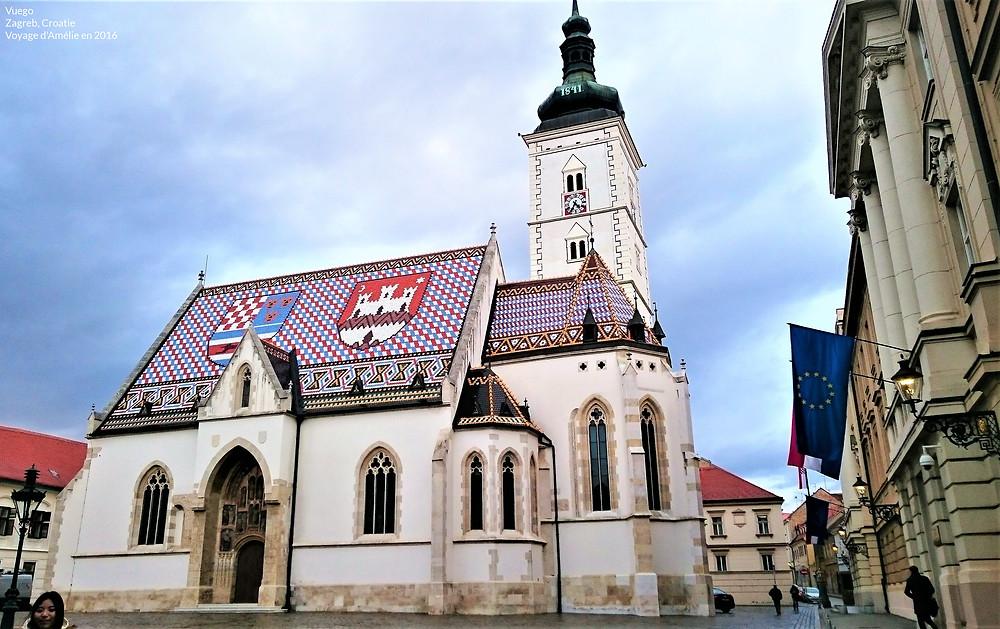 Eglise de Zagreb en Croatie