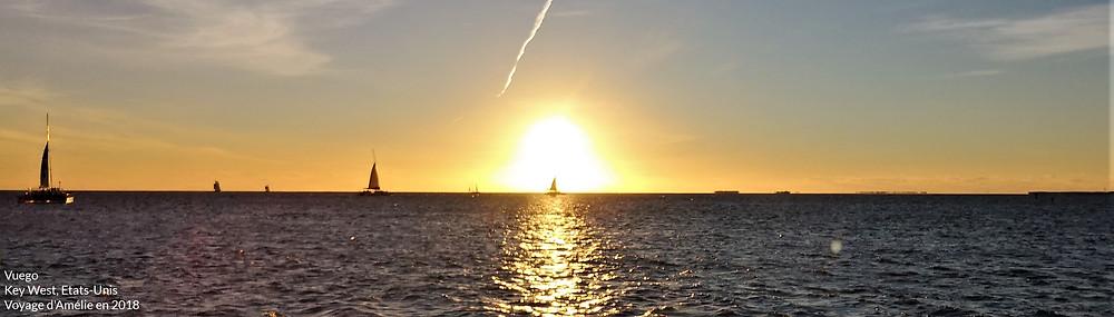 Coucher de soleil sur l'océan à Key West en Floride du Sud