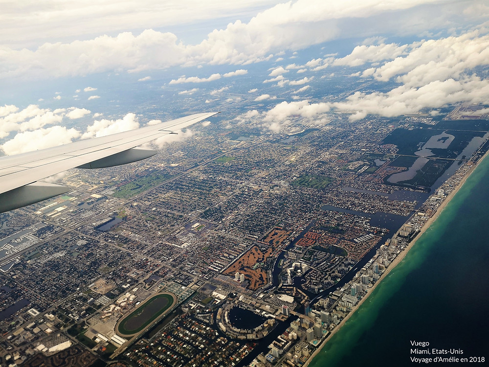 Voyage à Miami, en Floride, avec la ville vue du ciel