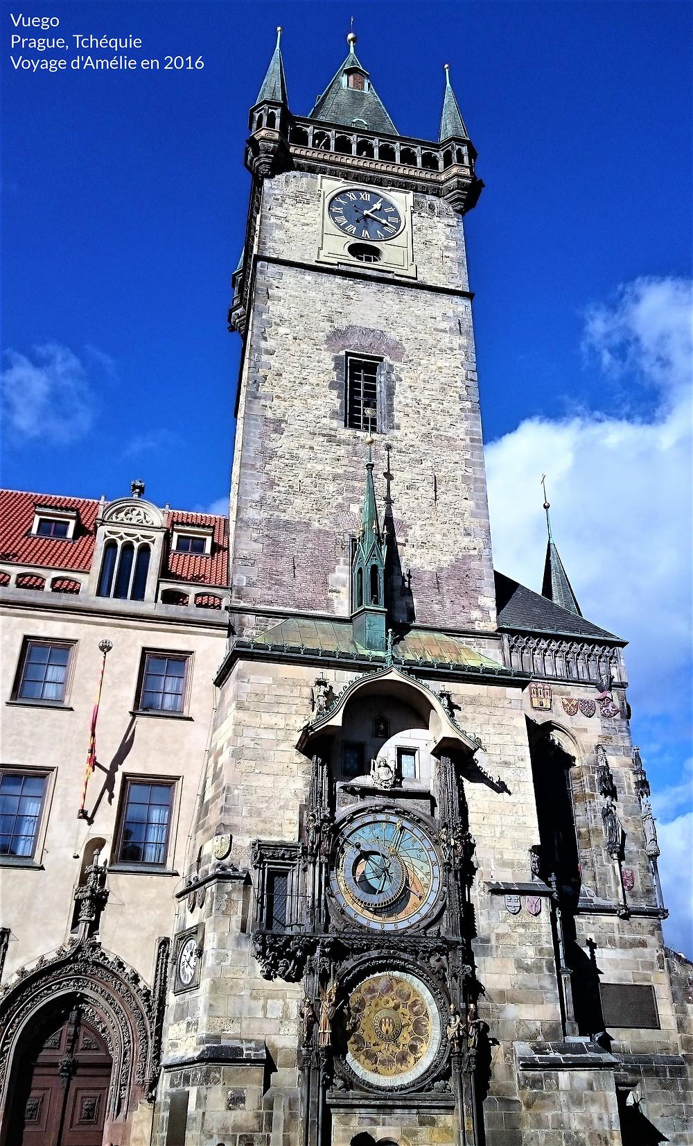 Tour de l'Hôtel de Ville à Prague en République Tchèque