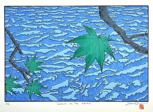 'Leaf on the Water One'