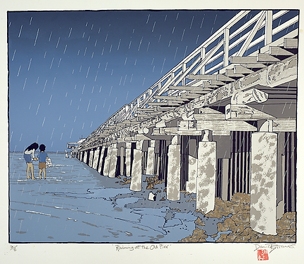'Raining at The Old Pier'