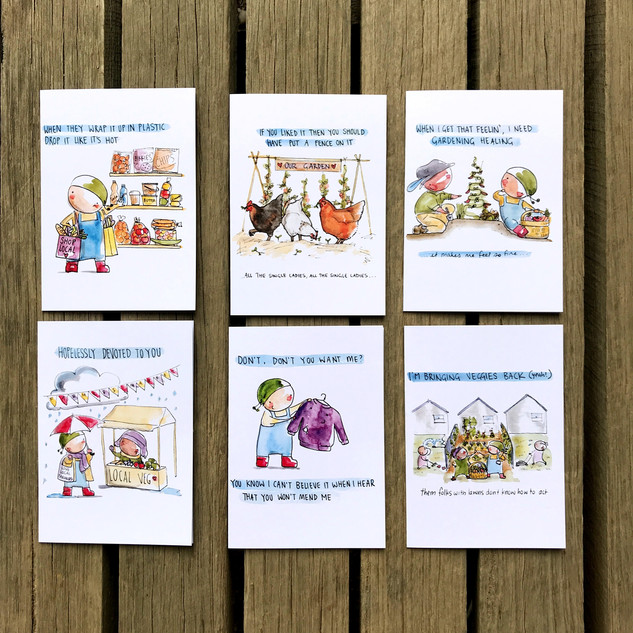 Set of Six Greeting Cards - $20