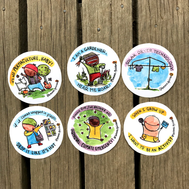 Set of Six Stickers - $10