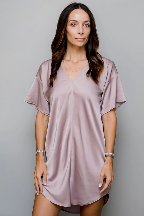 Satin T-shirt Dress