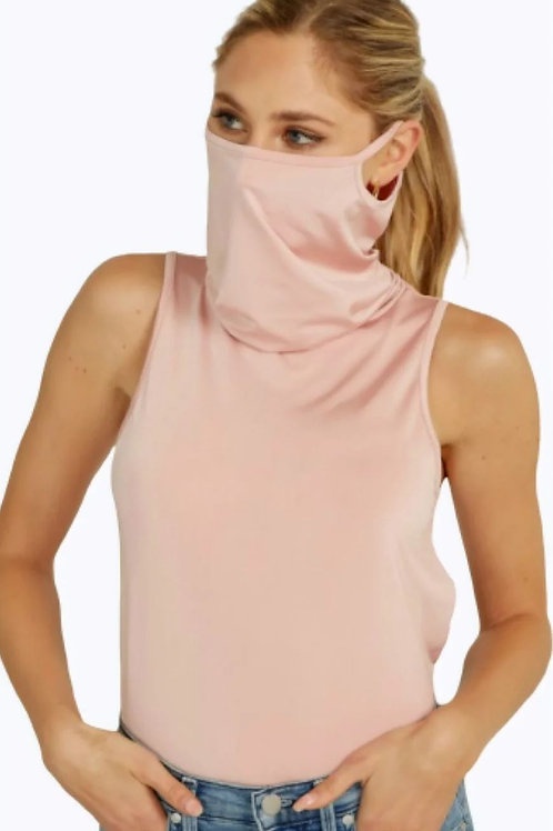 Mauve Crop Face Mask Tank