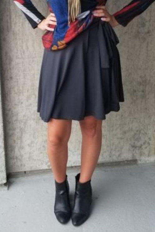 Grey Wrap Skirt