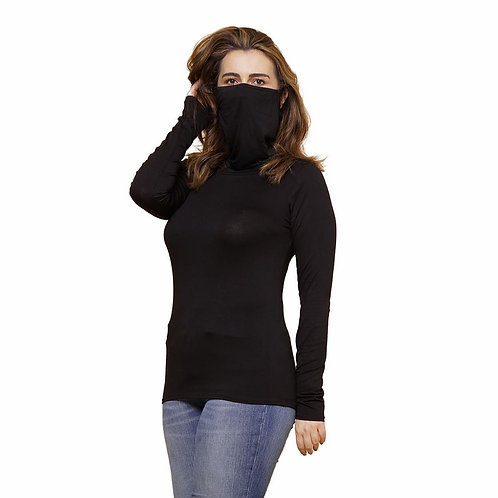 Long Sleeved Face Mask Top
