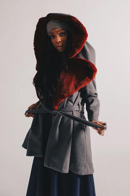 Fur Lined Wool Coat
