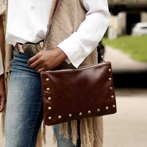 Clutch/Crossbody -Dark Brown