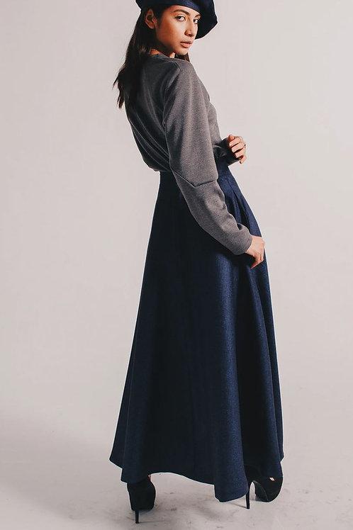 Wool Linen Skirt
