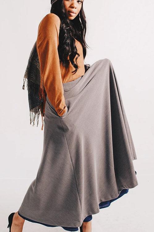 Heathered Grey Circle Skirt