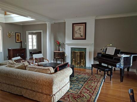 Living Room Wall, Ceiling, Trim & Firepl