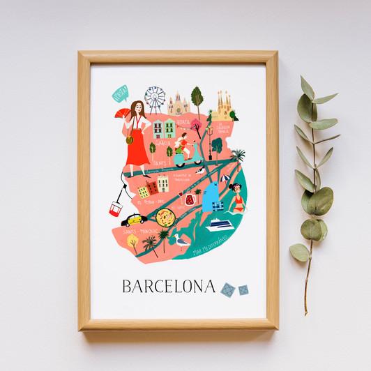 Lámina Mapa de Barcelona