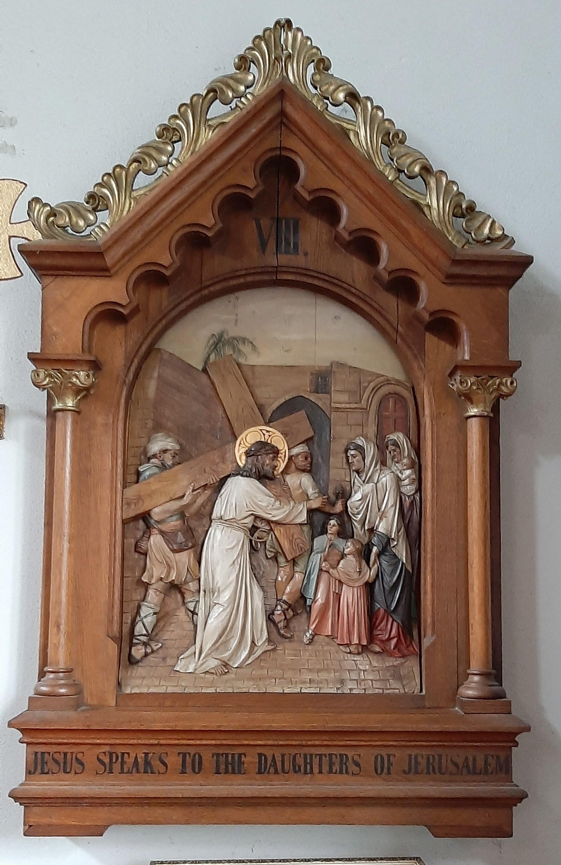 Eighth Station: Jesus meets the women of Jerusalem.