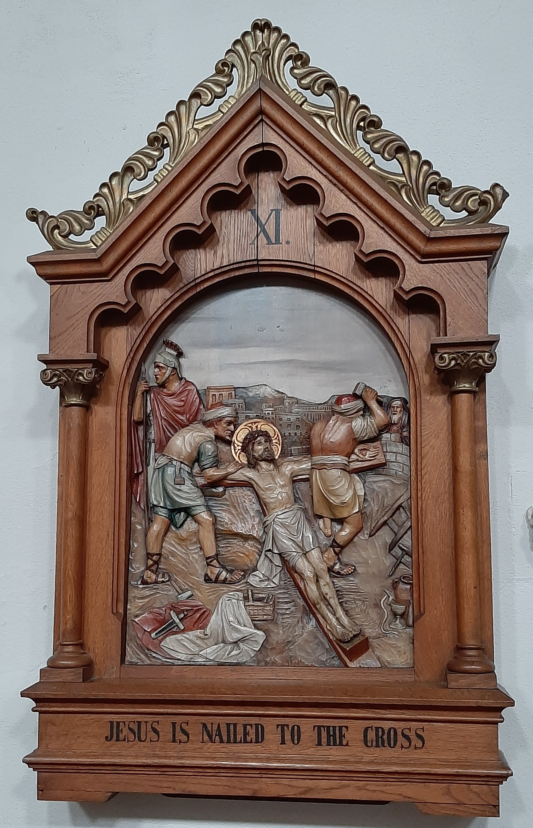 Ninth Station: Jesus falls the third time.
