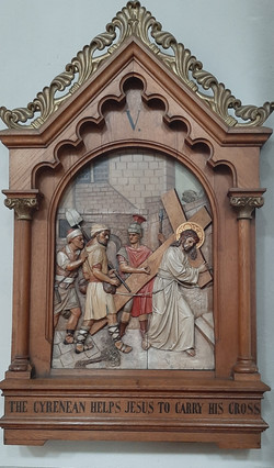 Fourth Station: Jesus meets his mother.