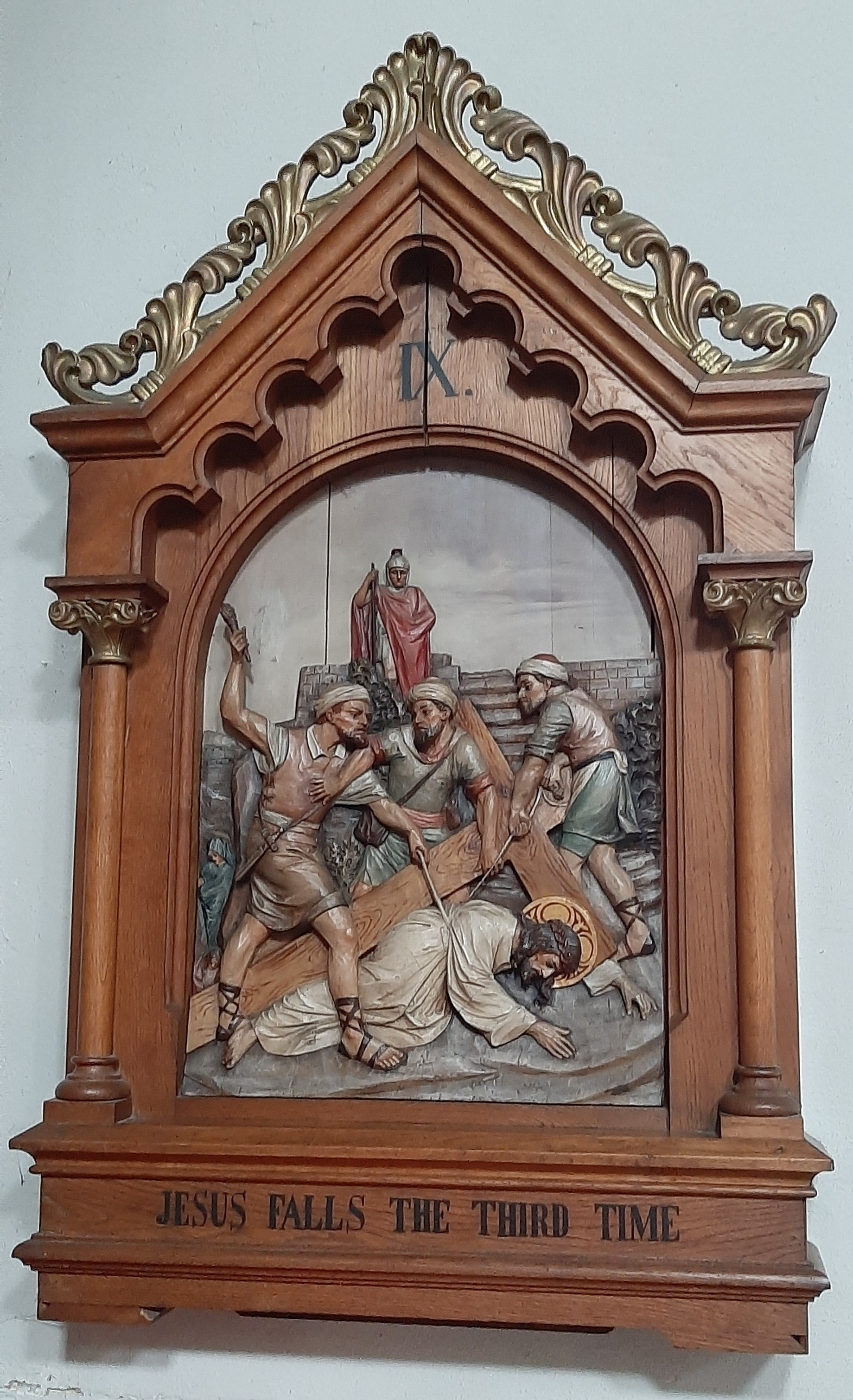 Eleventh Station: Jesus is nailed to the Cross.