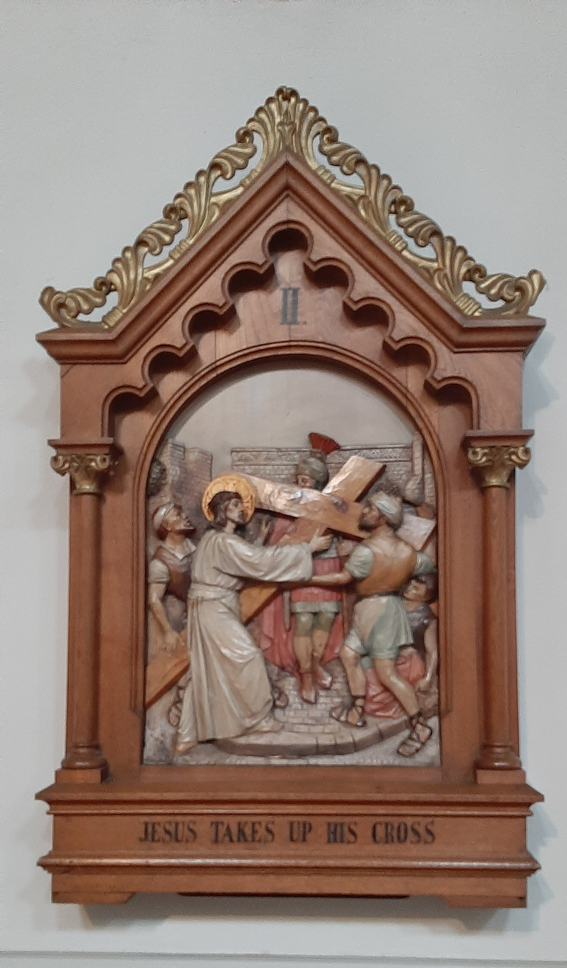 Thirteenth Station: The body of Jesus is taken down from the Cross.