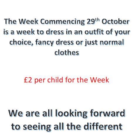 Dress up/Non uniform Week