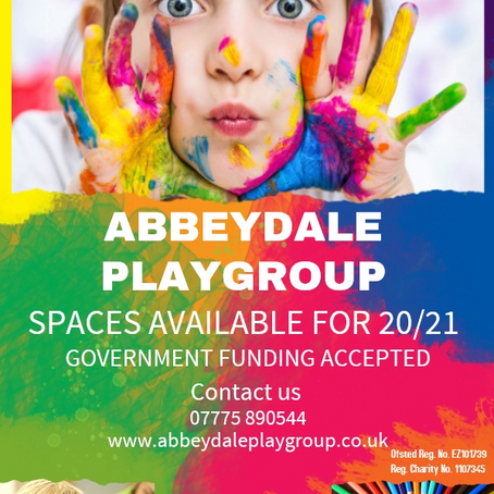 Spaces available from Sept 2020